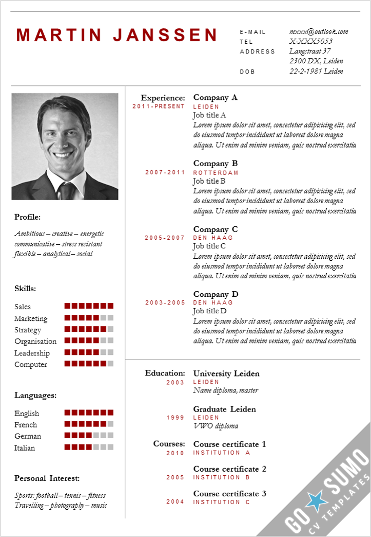 Go Sumo Cv Template On Twitter Modern Cv Template In Ms Word 2
