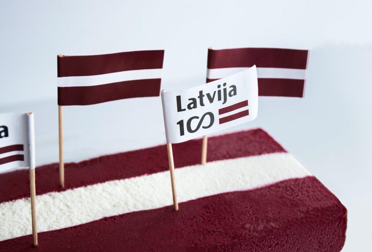 🇱🇻Atzīmējot Latvijas simtgadi, neaizmirsti parūpēties par atbilstošu svētku desertu! :) #Ekselence #LV100 https://t.co/eI72L608RM