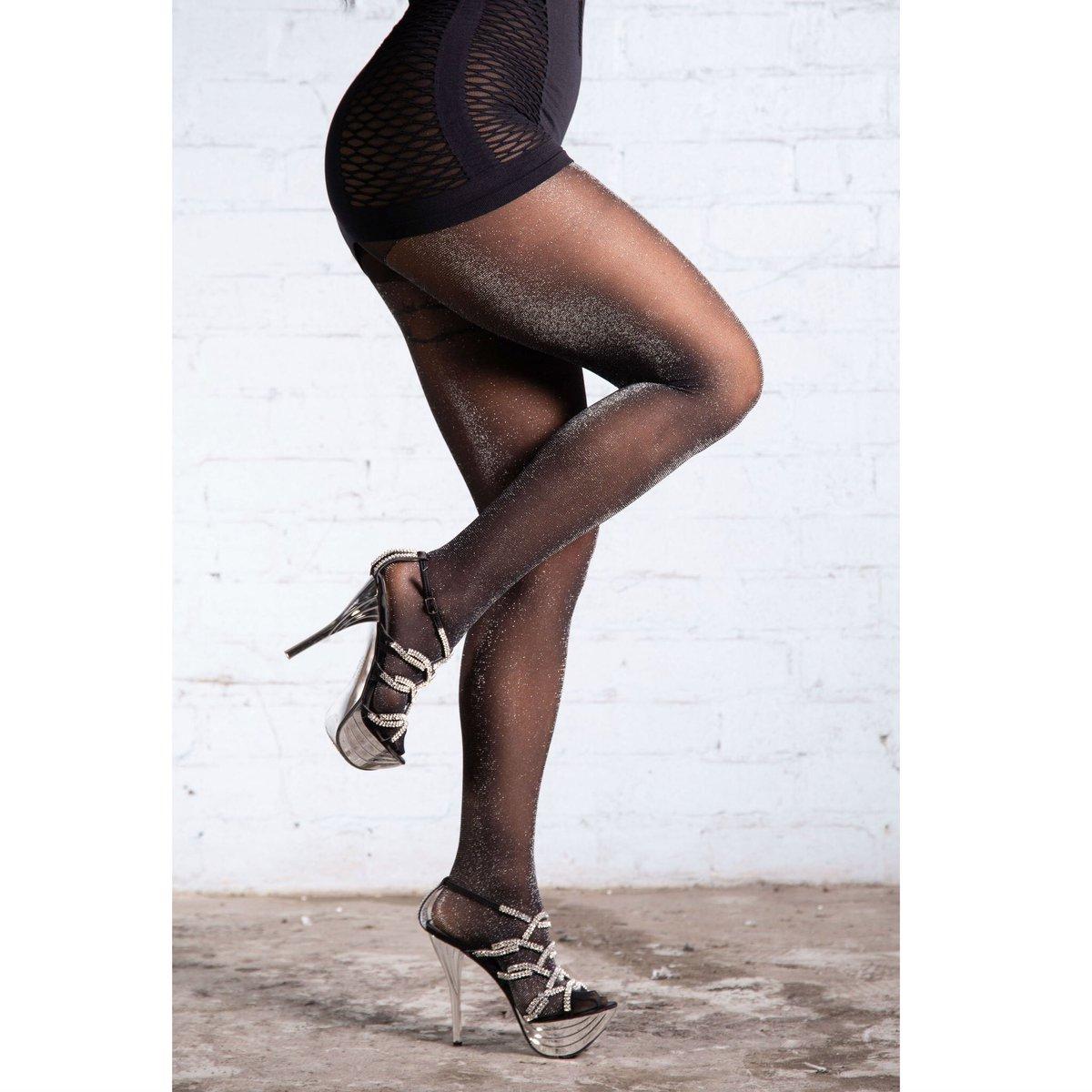 61ff61d603fc3 Very glittery black-silver glitter tights. #glittertights #glitterpantyhose  #glitterytights #glitterypantyhose #sparkletights #sparklepantyhose  #lurextights ...