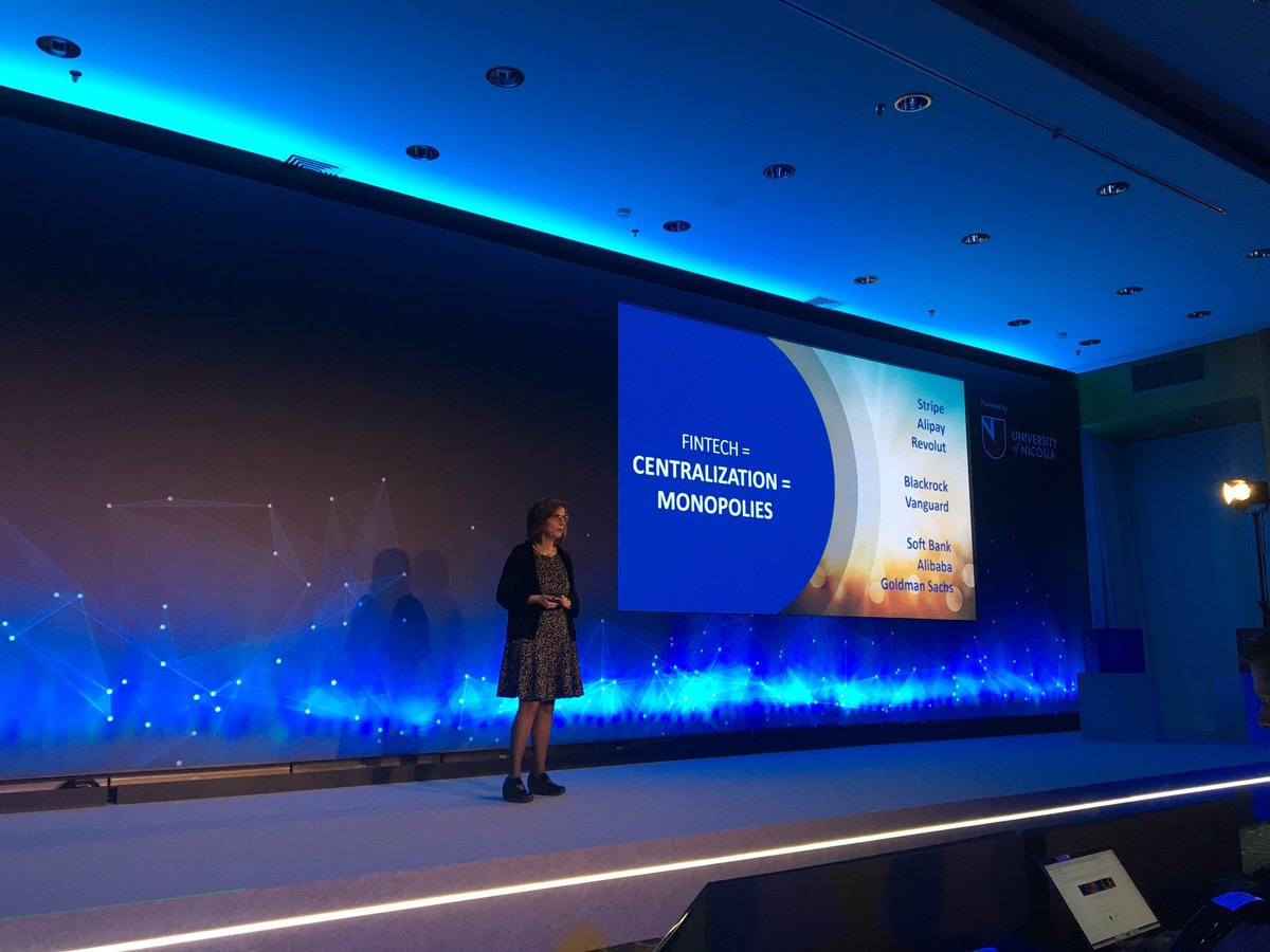 RT @ADedopoulou: Efi Pylarinou @efipm gave us an interesting insight about #fintech. #fintech #DECENTRALIZED2018 https://t.co/tEN7u60YqR