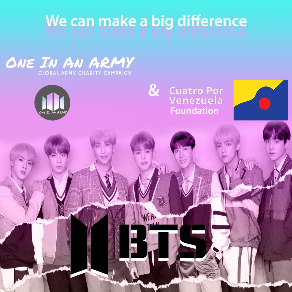 It does not matter where you are as long as we work together to help those who need it the most. Thanks @OneInAnArmy, @bts_twt, Bts fans and everyone who has helped! To donate go to  http:// ow.ly/DXg730mwlq7  &nbsp;   #OneInAnArmy #OIAAPorVenezuela #Bts <br>http://pic.twitter.com/u7DCqDylQ9