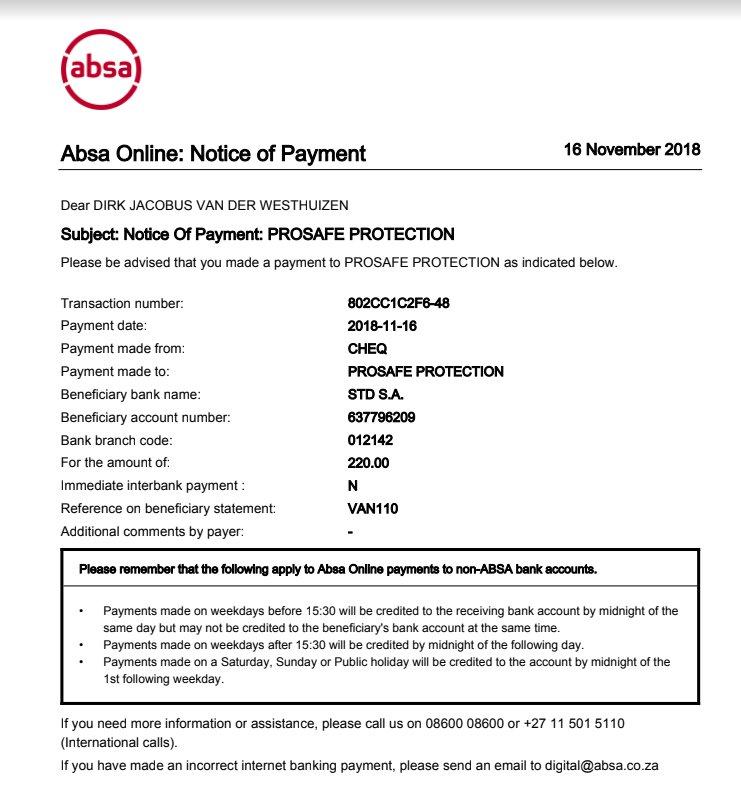 Absa Bank Statement