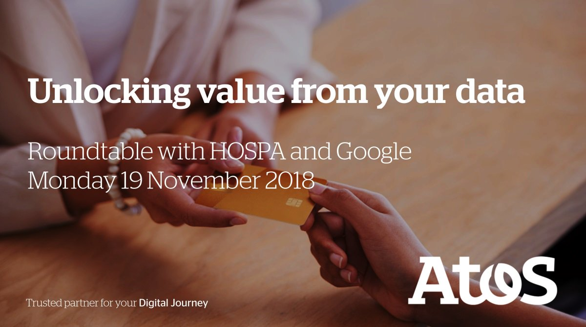 test Twitter Media - #DigitalLeader Atos #machinelearning and #artificialintelligence are transforming #hospitality. Find out how at our 2nd annual roundtable event with HOSPAtweets and Google on Monday. https://t.co/L6E4XyZVm3 https://t.co/jlSW9BbEUa