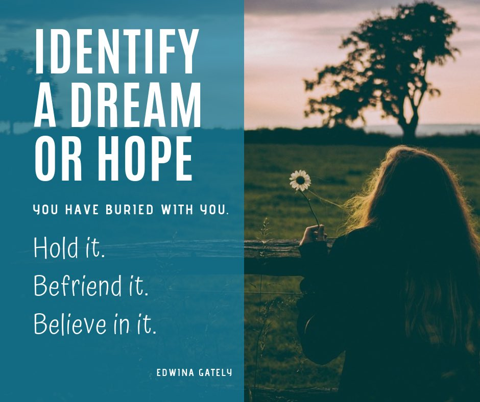 "test Twitter Media - ""Identify a dream or hope you have buried with you. Hold it. Befriend it. Believe in it."" -Edwina Gately #FridayMotivation https://t.co/qXSX4R96La"