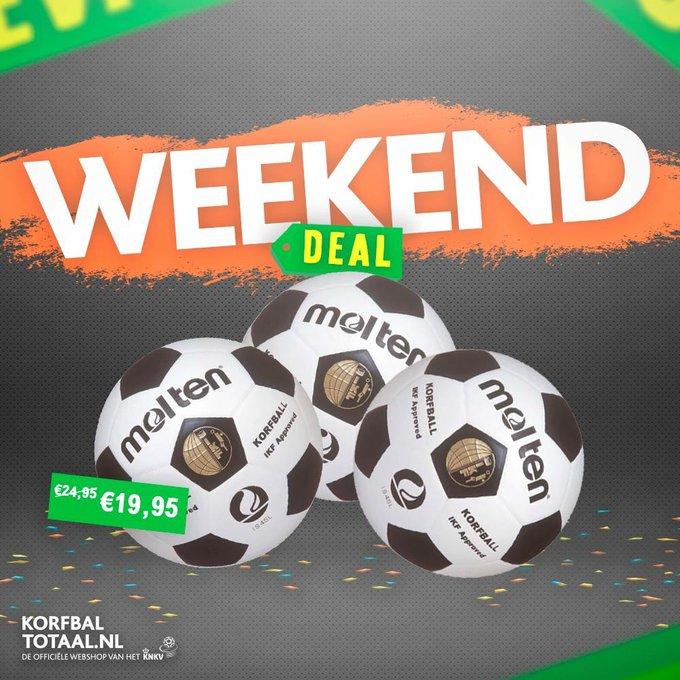 ❗️ WEEKENDDEAL | De korfballen van #Molten zijn dit weekend afgeprijsd naar €19,95! Geïnteresseerd in het bestellen van 10 of meer ballen? Neem contact op met korfbaltotaal@ voor een nog scherpere aanbieding! 🏐 ➡️ #Korfbaltotaal Photo