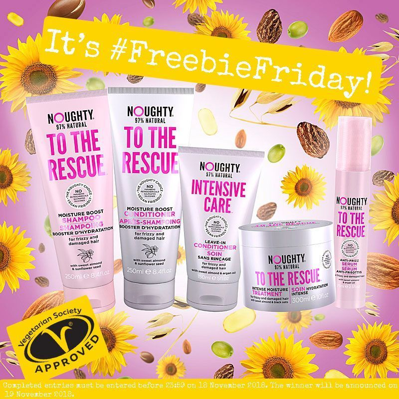 It&#39;s #FreebieFriday and we&#39;re giving away the full range &#39;To the Rescue&#39; hair care products displaying the Vegetarian Society Approved vegetarian trademark.   For a chance to win, simply: Tag a friend  Like our page  Share this post  T&amp;C&#39;s:  https:// buff.ly/2JKudit  &nbsp;  <br>http://pic.twitter.com/r48eBrRHh3