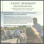 Image for the Tweet beginning: FASPE Seminary is now accepting