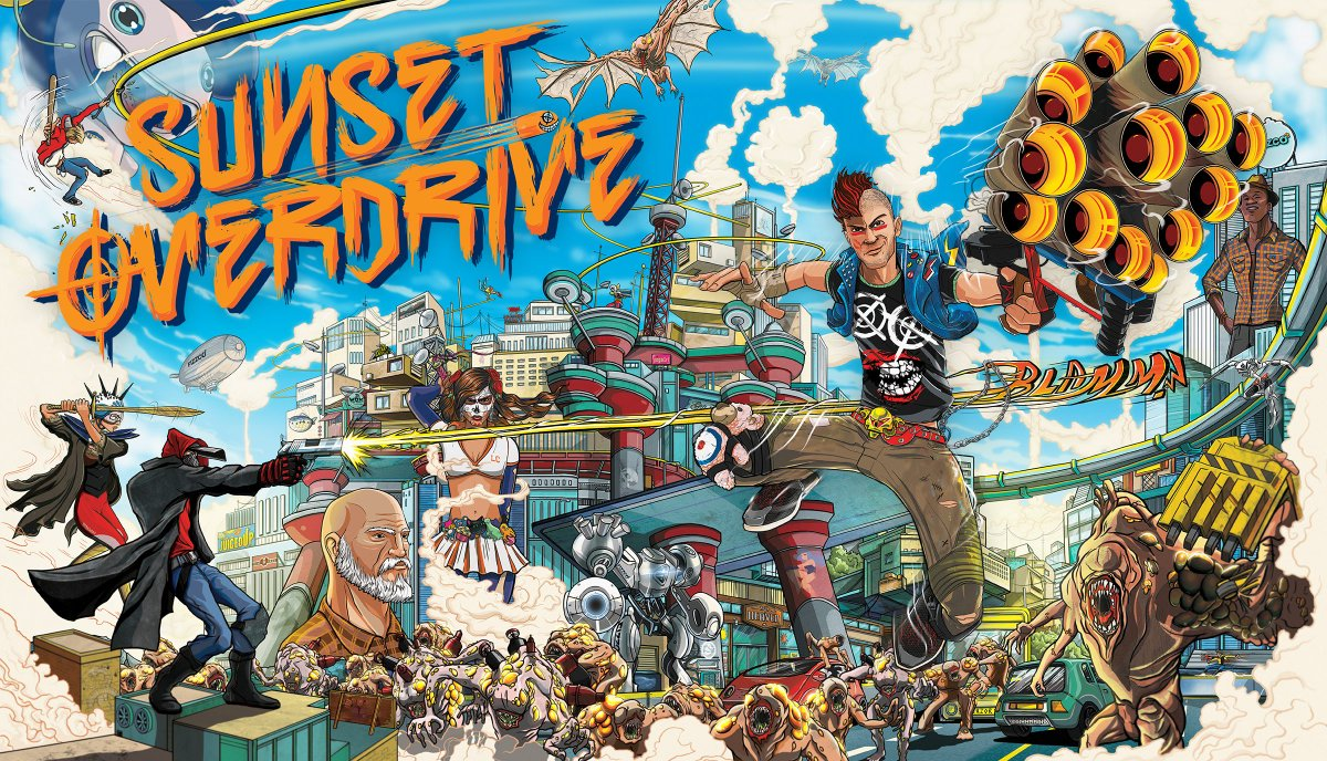 LIVE NOW! Grab @SunsetOverdrive on Windows 10 PC microsoft.com/en-us/p/sunset… or Steam store.steampowered.com/app/847370/Sun…