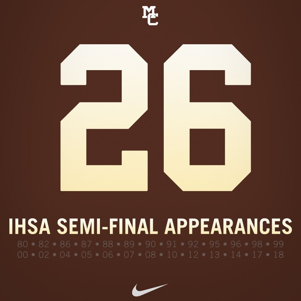 This Saturday will be the Caravan's 26th appearance in the IHSA Semifinals. Since 1980 the Caravan advance to the Semis 68% of the time. #Caravan