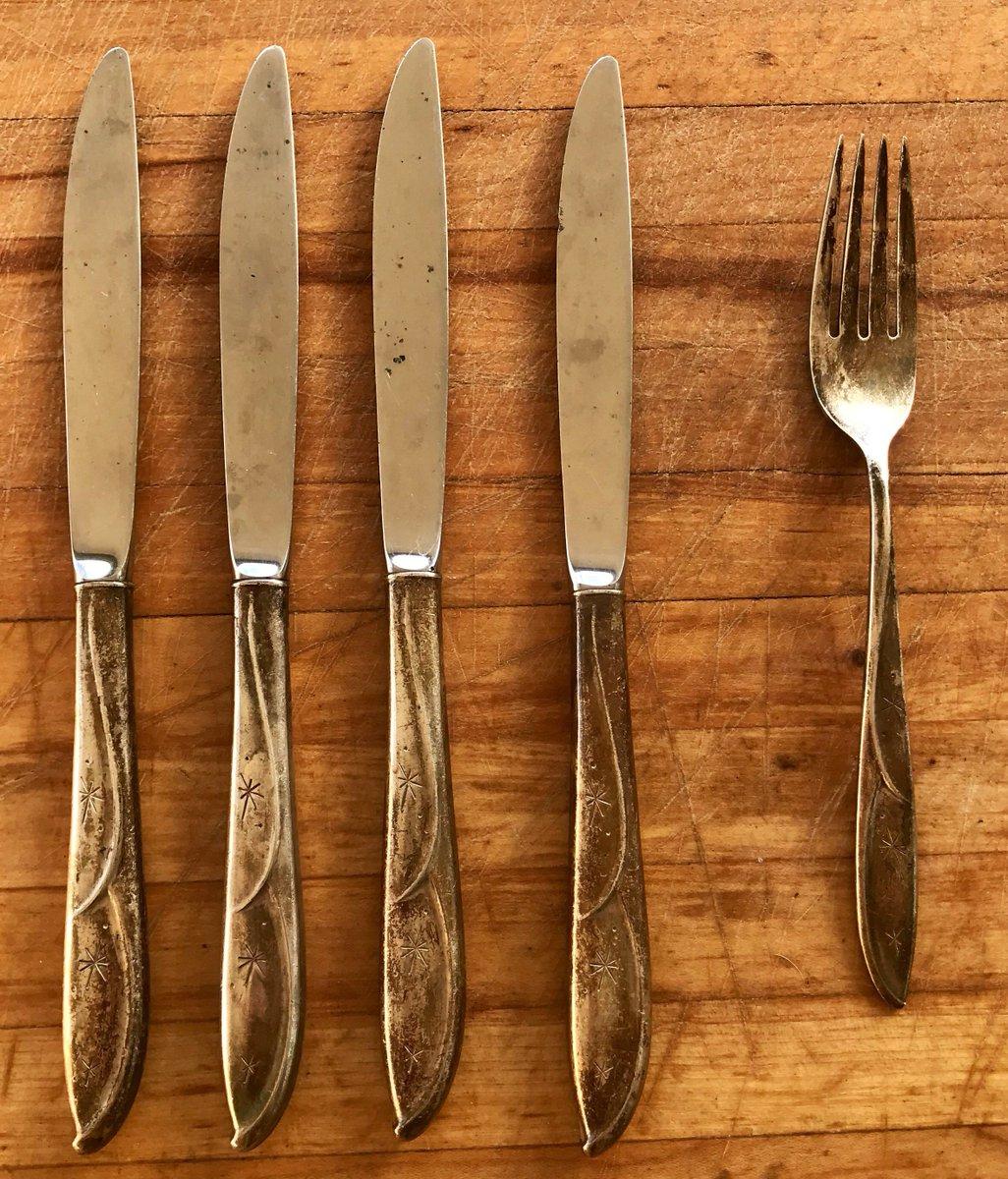 Mid-century modern Retro knives set of 9