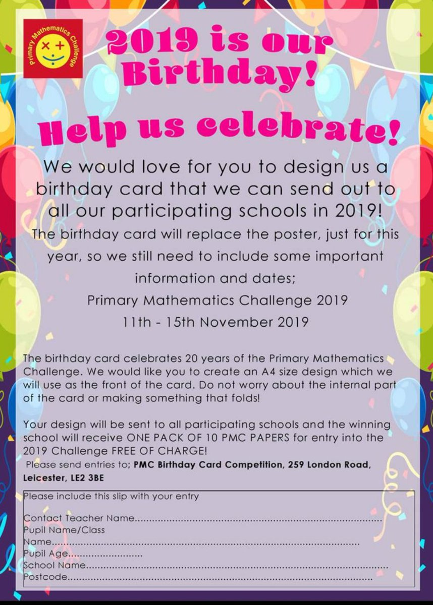 Superb Pmc On Twitter Please Have A Go At Our Competition To Design A Personalised Birthday Cards Paralily Jamesorg
