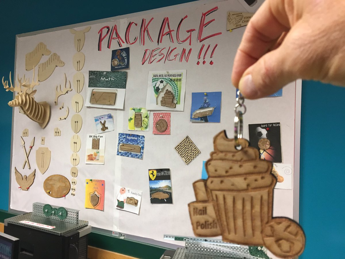 """Students interviewed each other as target market research. Then created and LASER cut these """"Kindness Awards"""" key-fobs based on what they discovered. They designed packaging and vacuumformed blister pacs for some  awesome products. <a target='_blank' href='http://search.twitter.com/search?q=GunstonPRIDE'><a target='_blank' href='https://twitter.com/hashtag/GunstonPRIDE?src=hash'>#GunstonPRIDE</a></a> <a target='_blank' href='http://search.twitter.com/search?q=APS_CTAE'><a target='_blank' href='https://twitter.com/hashtag/APS_CTAE?src=hash'>#APS_CTAE</a></a> <a target='_blank' href='https://t.co/7xXjeeyoxD'>https://t.co/7xXjeeyoxD</a>"""
