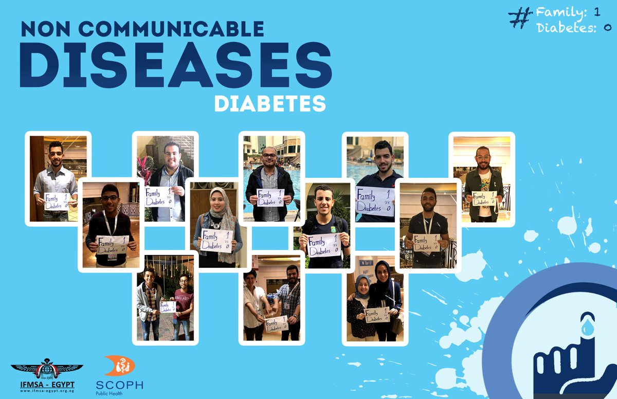 IFMSA-Egypt members took this special week as an initiative to portray their support to anyone with diabetes and spread awareness about the disease.  #1Family_vs_Diabetes0 #IFMSA  #IFMSA_Egypt  #SCOPH  #NCDs #Diabetes<br>http://pic.twitter.com/MC6spYkVVq