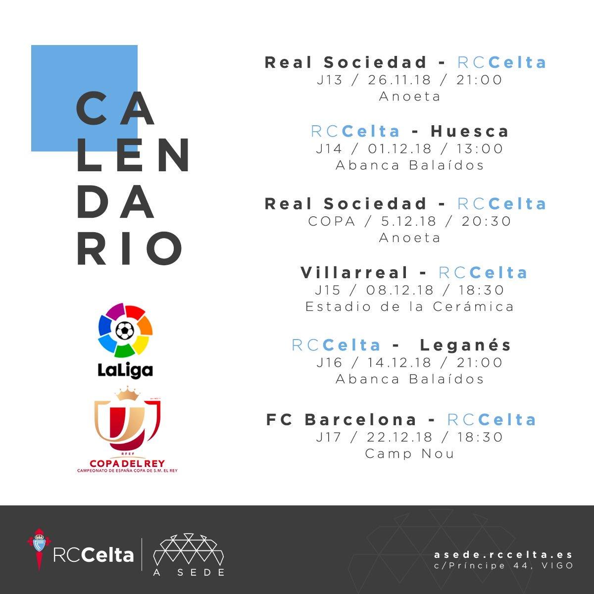 Calendario Celta Vigo.A Sede Rc Celta On Twitter Calendario Actualizado Ata Final De