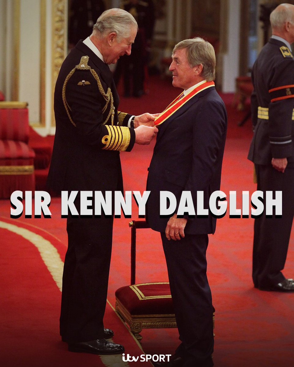 King Kenny has now become Sir Kenny 👑  What's your favourite @kennethdalglish moment?  #LFC