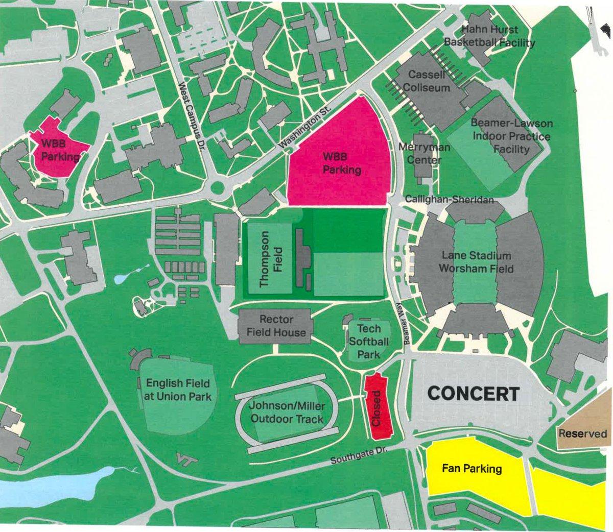 Virginia Tech Campus Map Parking Www Topsimages Com