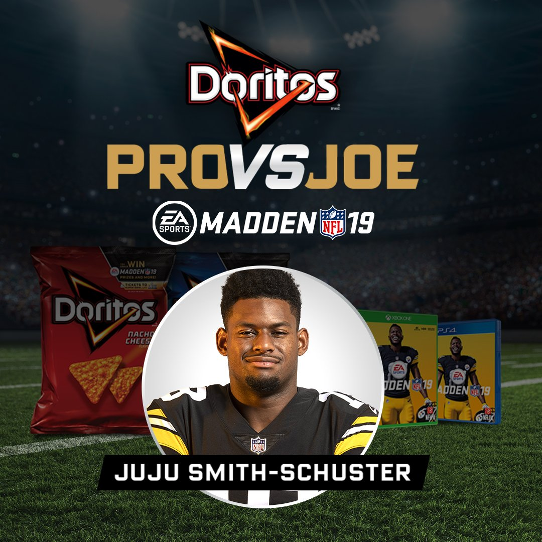Do you want to play @TeamJuJu in #Madden19?! @Doritos gives you a chance: bit.ly/2RT548R
