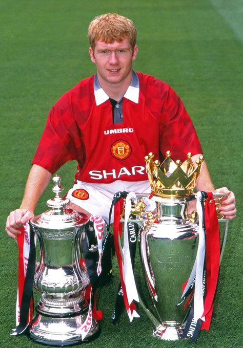 Happy birthday to legend Paul Scholes  Has there ever been a better English midfielder?