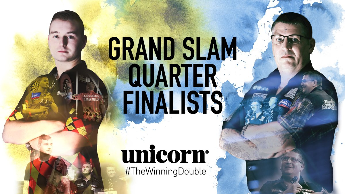 GOOD LUCK to both of our #TeamUnicorn Quarter-Finalists at the Grand Slam in Wolverhampton! #TheBigNameinDarts @VandenBerghDimi: playwiththebest.com/darts/team-uni… @GaryAnderson180: playwiththebest.com/darts/team-uni…
