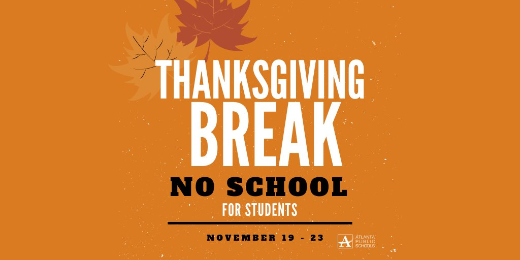 Atl Public Schools On Twitter Reminder Atlanta Public Schools