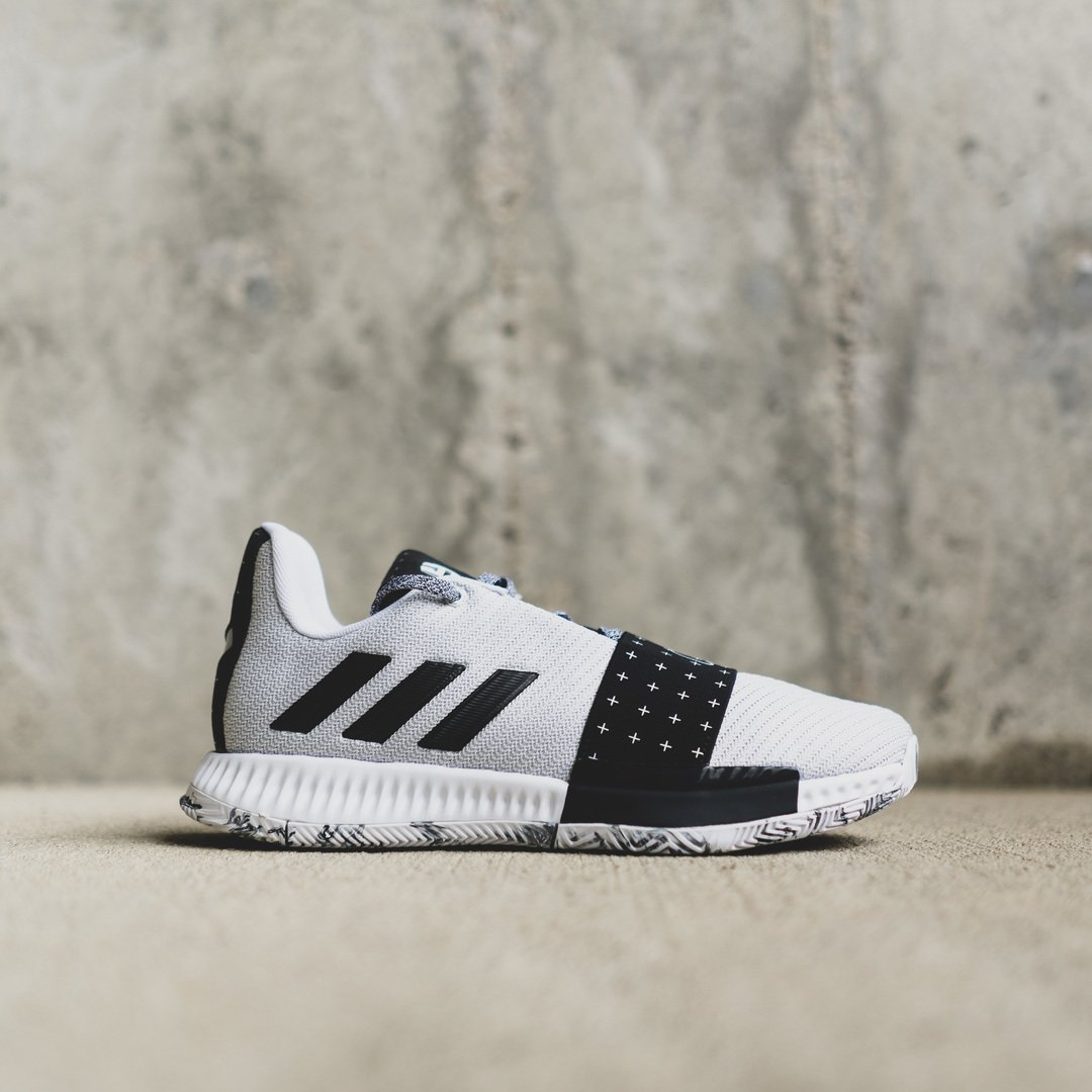 f203b87ec634 Dropping online today the Men s  Adidas Harden VOL.3  White Black . Grade  School sizing also available online   in select stores.  styledbyhibbett Shop  Now ...