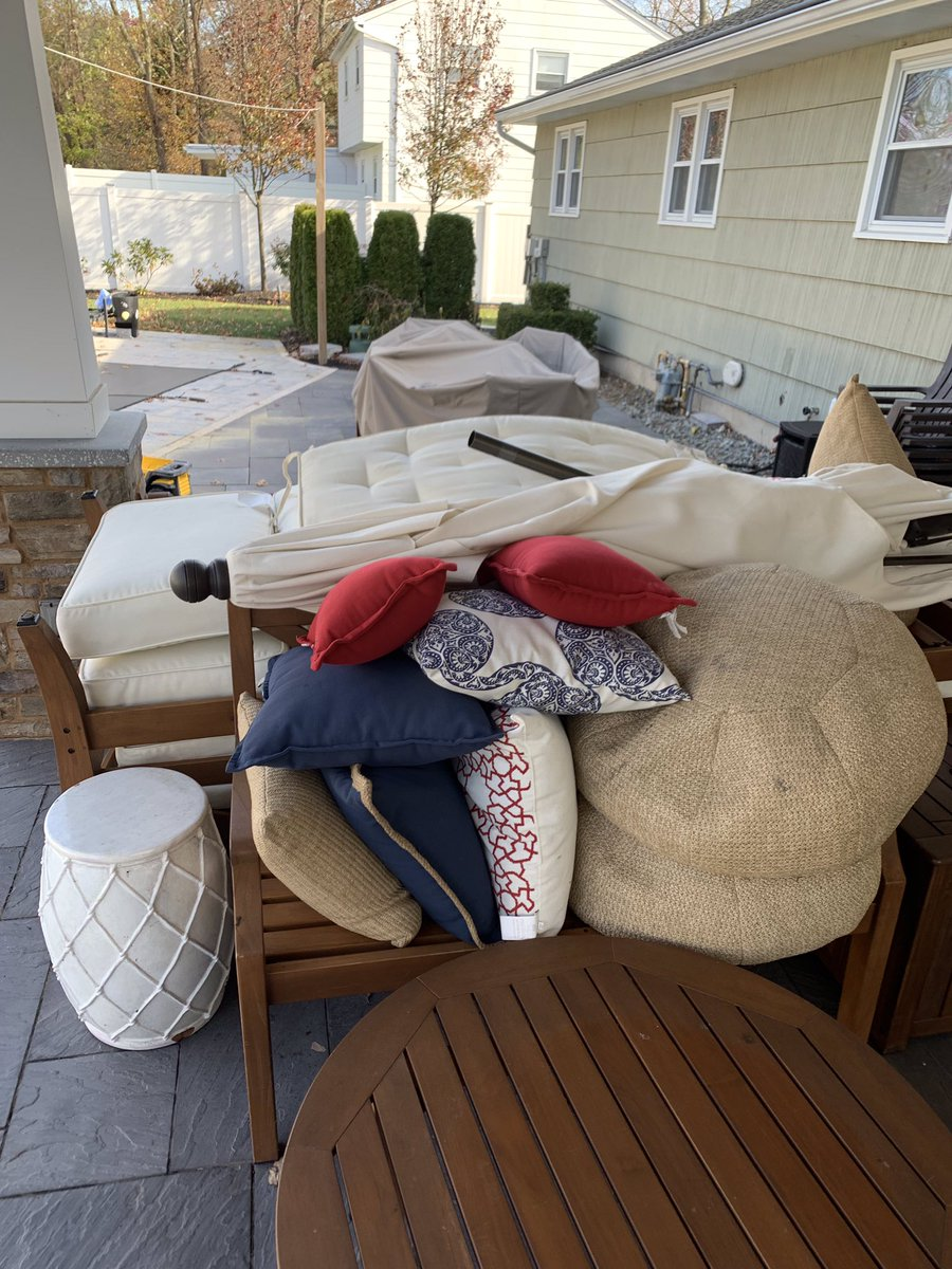 Before and after shrink wrapping in nj http njshrinkwrapping com beforeandafter shrinkwrap outdoorfurniture furniture protection investment weather