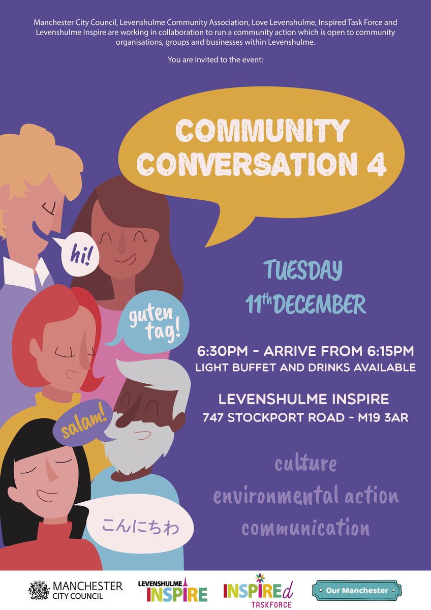 Community Conversation part 4 at Inspire on Tuesday 11th December. Get involved! #community #conversation