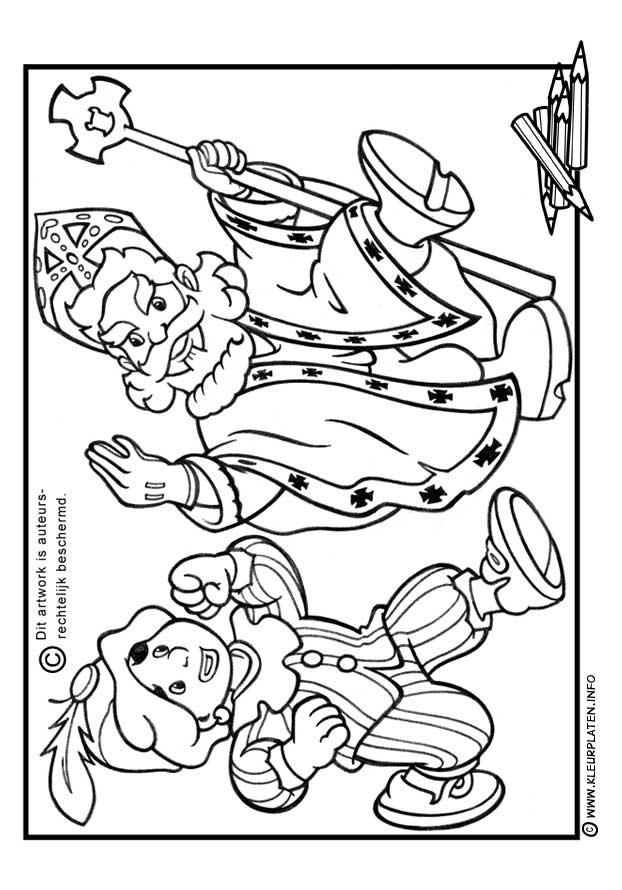 Kleurplaten Tekenaar On Twitter Sinterklaas Saint Nicholas