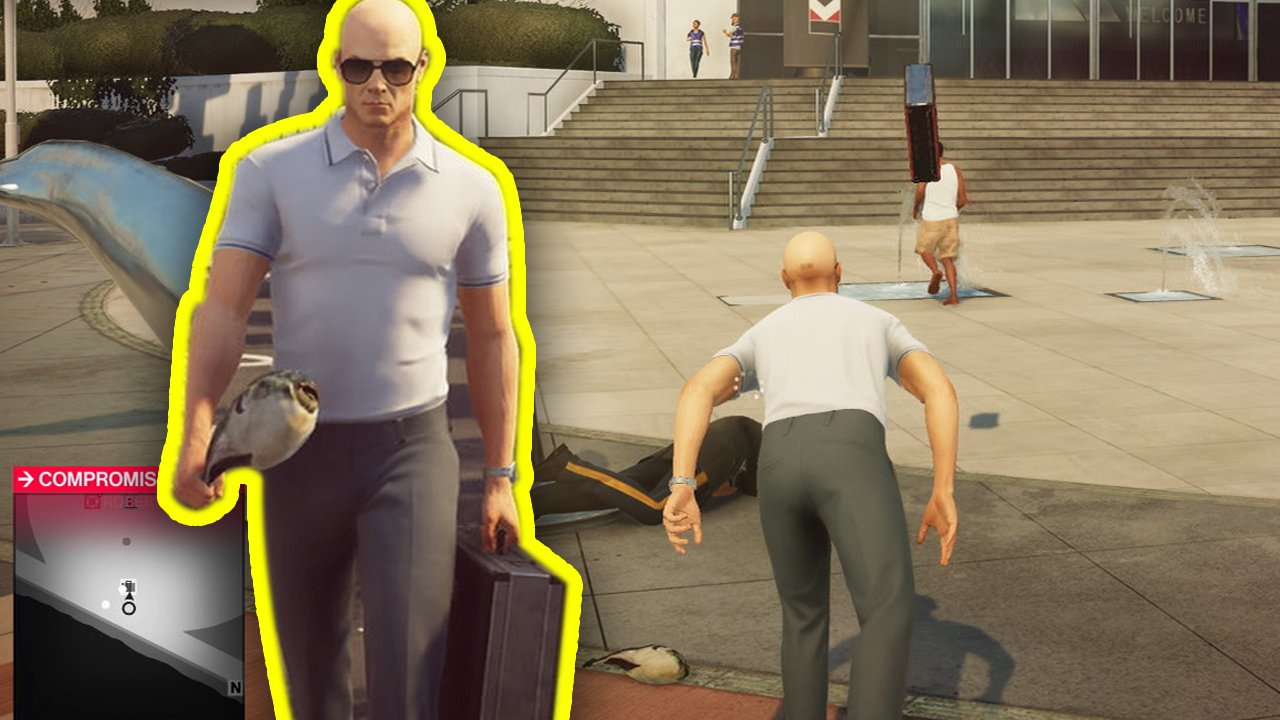 This briefcase glitch in Hitman 2 is, well... Just take a look.  https://t.co/c7xmVmZ9tP https://t.co/ze3pess8Q5