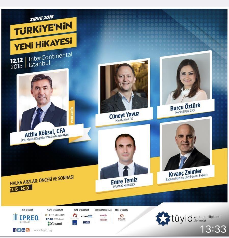 12 Aralık'ta @TUYID Konferansında deneyimli yöneticilerle halka arzların şirketlere, yatırımcılara ve Türkiye ekonomisine katkılarını konuşacağız.