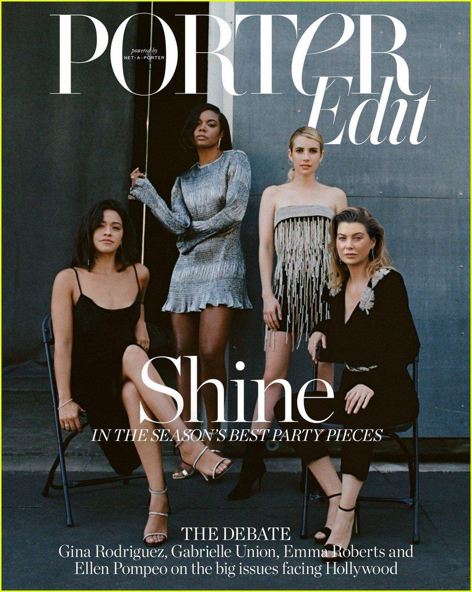 Photoshoot dEllen Pompeo, Gina Rodriguez, Emma Roberts et Gabrielle Union pour PorterEdit.