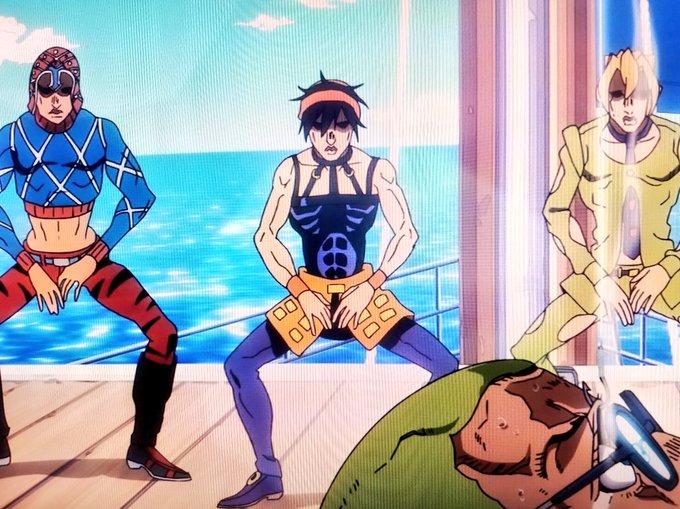 ギャングダンスが俺の想像の百億リラ倍スタイリッシュだったwww ディ・モールト ディ・モールトベネッ!( ≧∀≦)ノ jojo_anime ジョジョ  https//t.co/S2ycwI3Ig6
