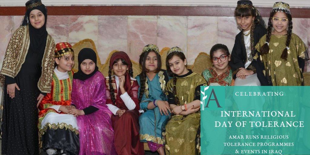 test Twitter Media - As well as the recent religious tolerance conference we ran in #Baghdad, which brought together Sunni, Shia, Christian, Yazidi, Mandaean & Chaldean, AMAR has also run tolerance programmes in #Iraq schools & unis, as well as with community-based organisations. #ToleranceDay https://t.co/bpajt2JWsf