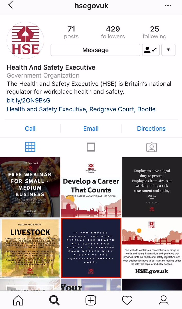 iOH is also excited this week as it also opened its own Instagram account!!! Visit iOH on #Instagram by searching iohcomms or via this link https://t.co/PqRTqkKSUT  #occupationalhealth #healthandsafety #Nursing