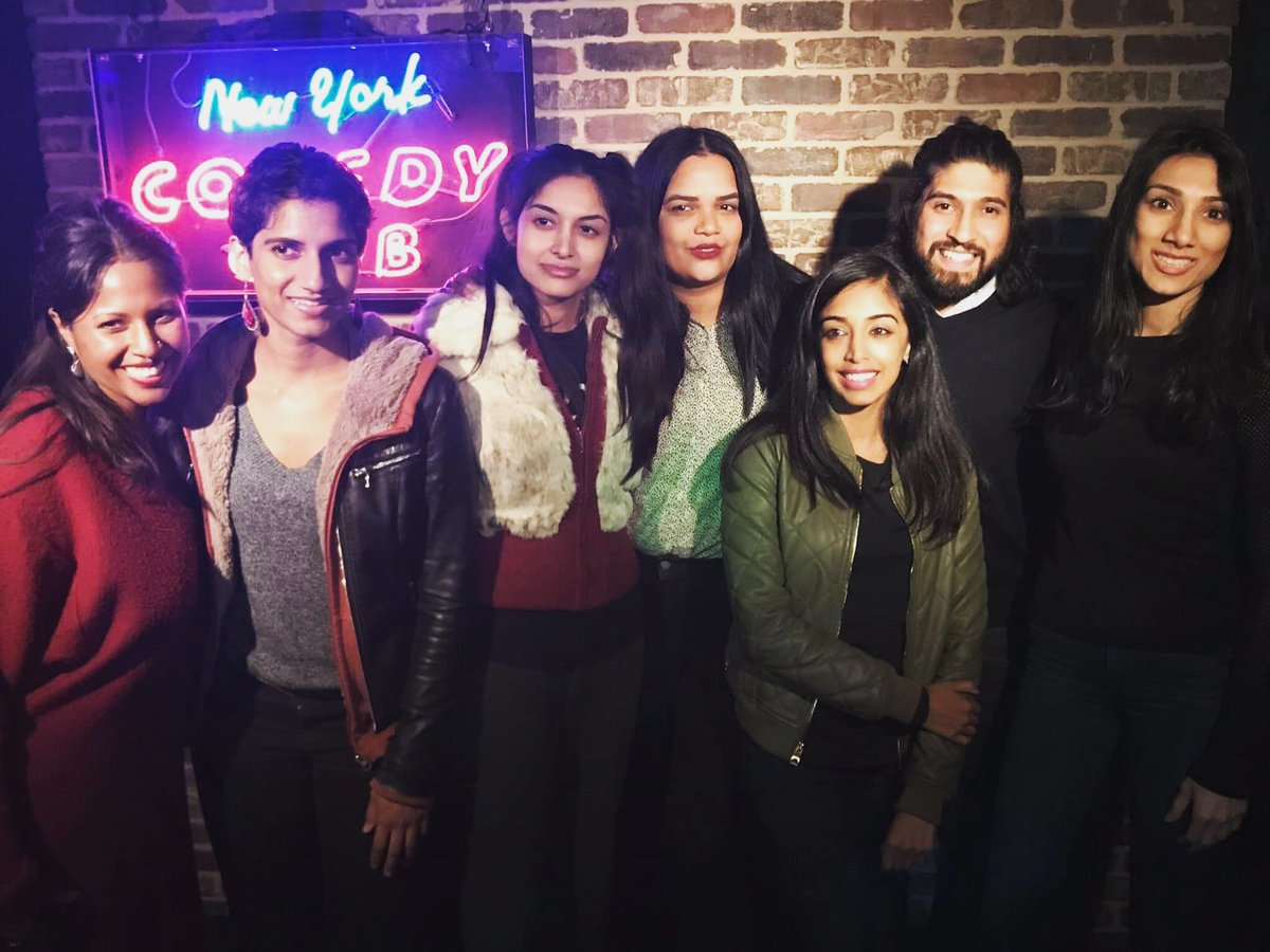 Thank you to all who came out to our sold-out @nycomedyfest show at @NewYorkComedy last weekend! Thank you to @SopanDeb & @nytimes for the write-up! Thank you to our NYC producers @SonyaVai & @KarmenNaidoo ! #flashbackfriday #makenylaugh #nycomedyfestival .