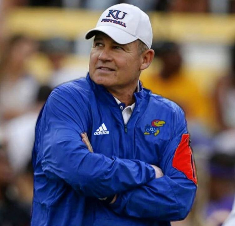 According to Sports Illustrated, KU is finalizing a deal to make Les Miles the next Head Football Coach of the Jayhawks! <br>http://pic.twitter.com/B4xUUFnYbc