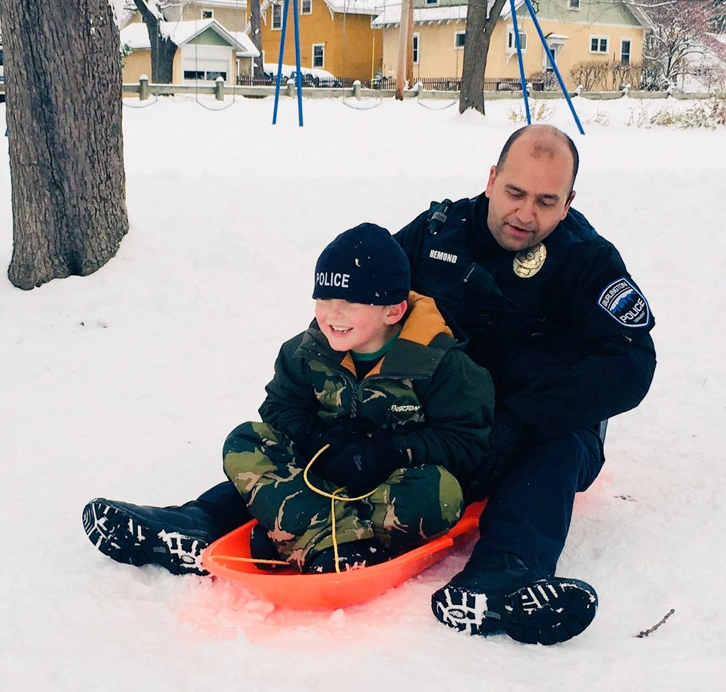 In case you've ever wondered how a school resource officer spends a snow day...