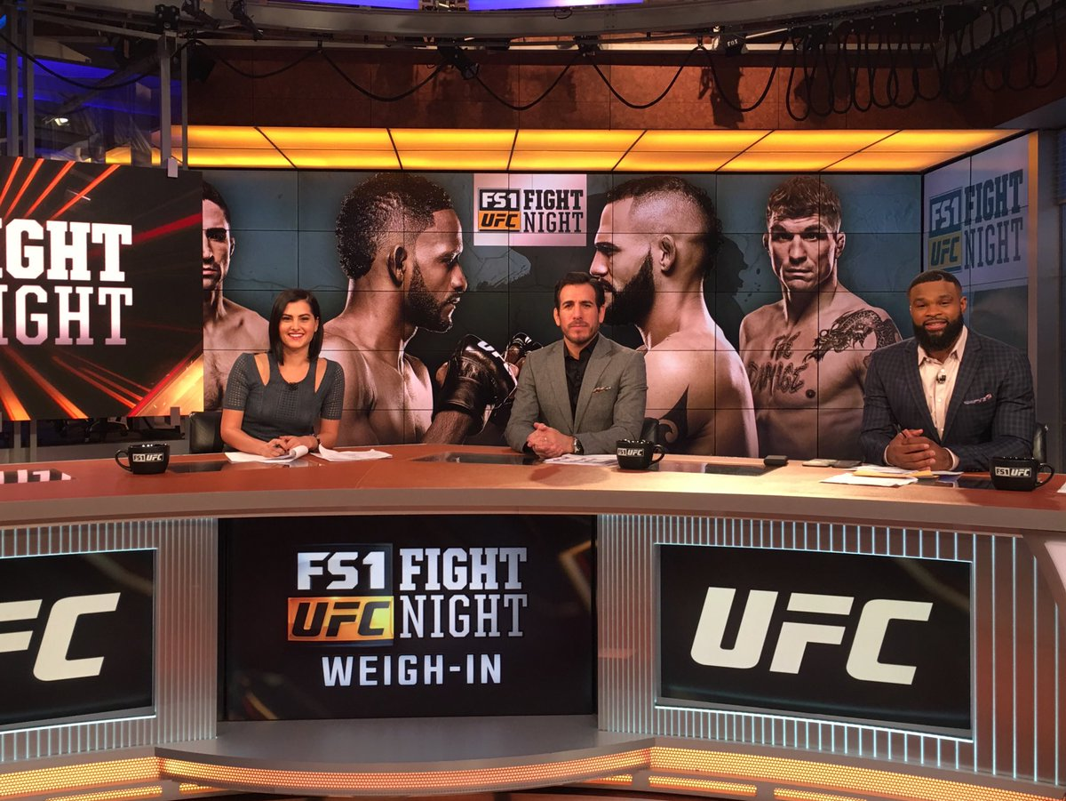 Tune in for the #UFCArgentina Weigh-in Show at 5pm ET on #FS2 with @MeganOlivi @kennyflorian @TWooodley and @HeidiAndrol reporting on-site - @UFCONFOX