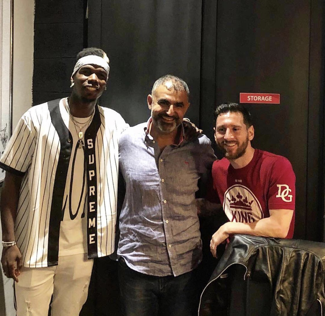 Photos: Pogba and Lionel Messi in Dubai today #mulive [ig various] <br>http://pic.twitter.com/2fbLzbfr4G