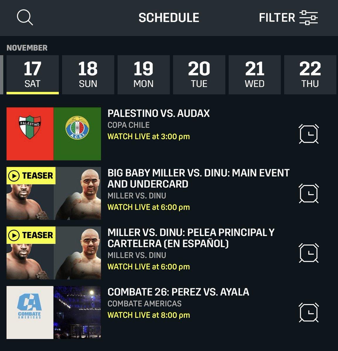 Dazn Schedule