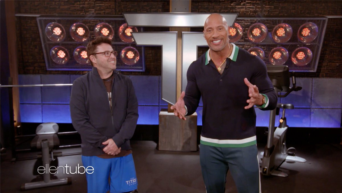 .@TheRock's new show the #TitanGames is looking for people who want to prove they're Titans. So I sent @AndyLassner.   @NBCTitanGames premieres January 3rd.