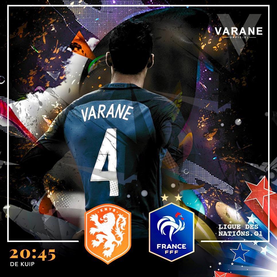 PAYS-BAS / FRANCE - 20H45 ⚽️🇫🇷 !! #Fiersdetrebleus #TeamVarane