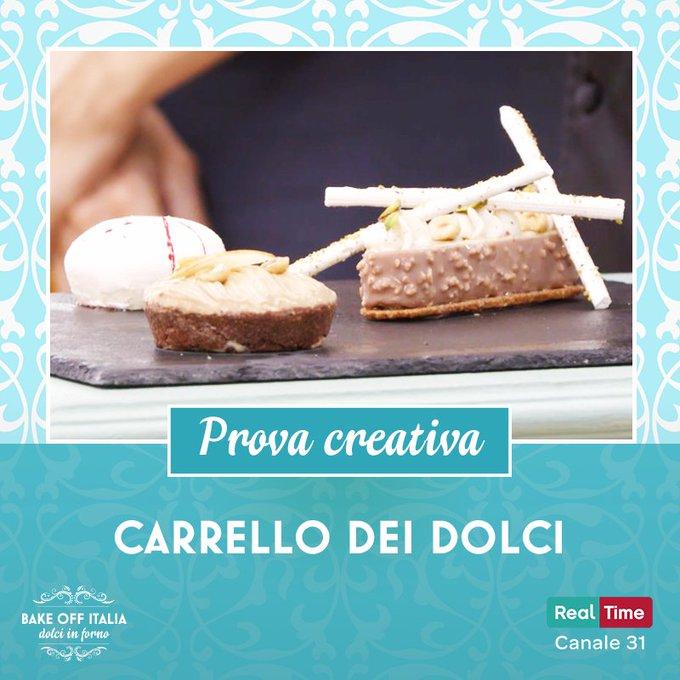 Direttamente dalla migliore tradizione delle trattorie italiane, per la prova creativa arriva un carrello carico carico di… dolci, ovviamente! 🍰 🎂 🍮 #BakeOffItalia Foto