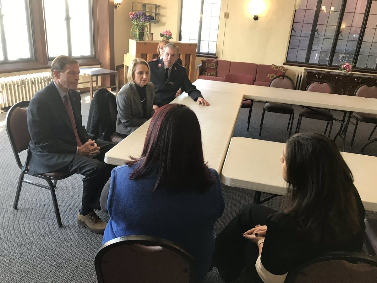 Commissioner Klein is joining @SenBlumenthal in #Waterbury this afternoon at the @salvationarmy to talk about the new round of federal funds from @HUDNewEngland we're awarding to help end #YouthHomelessness across #Connecticut. <br>http://pic.twitter.com/p9FNIO6c6W