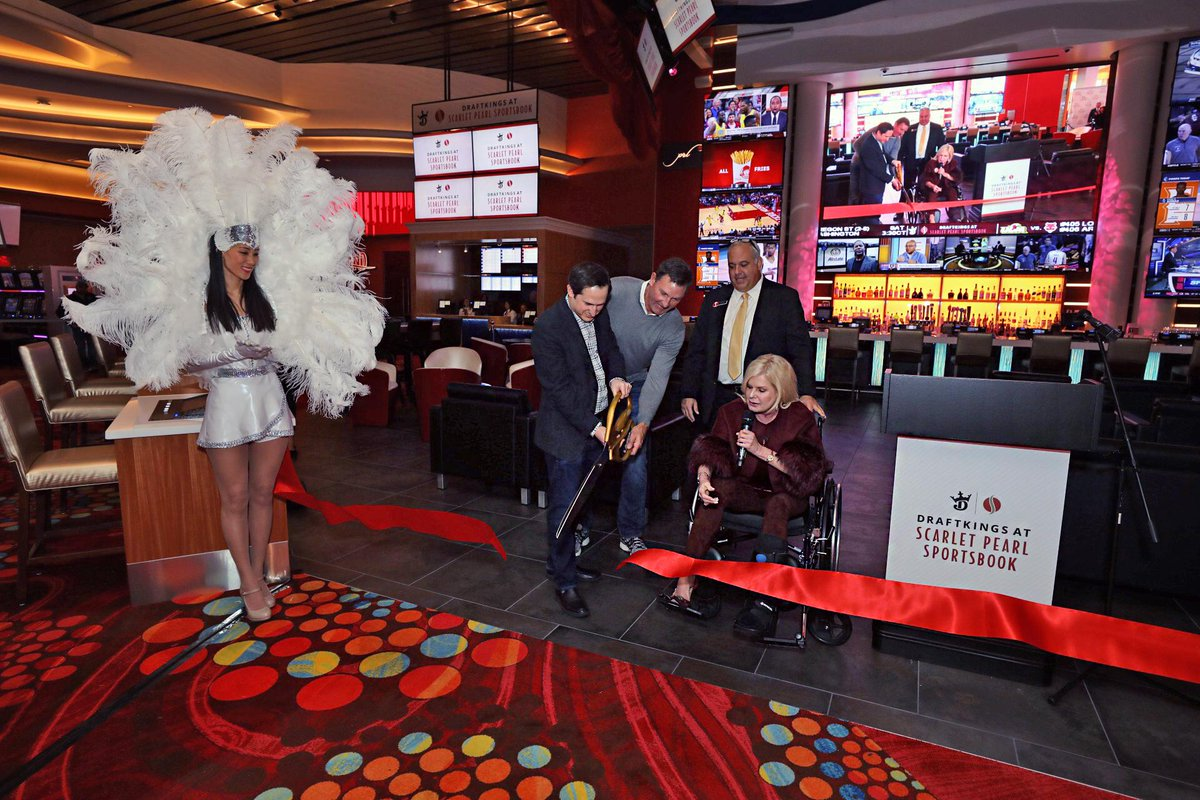 DraftKings at @ScarletPearl_MS will offer the opportunity to wager on dozens of sports. It will also soon offer live, in-game betting with three windows, giving sports fans a variety of ways to place their bets.
