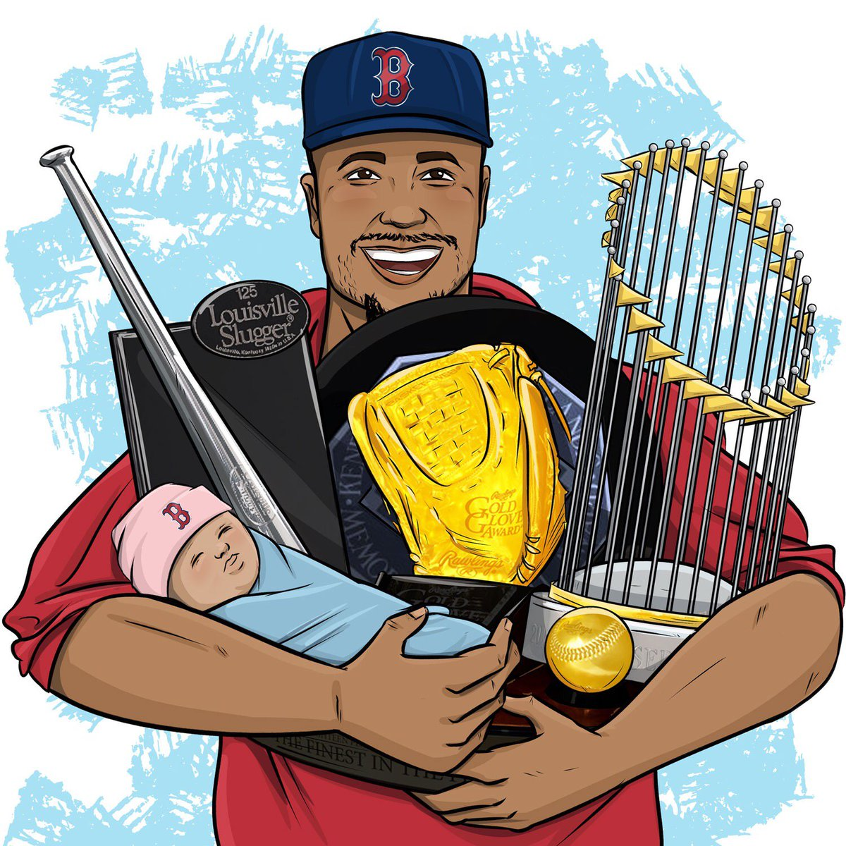 .@mookiebetts has his hands full this year. 😅