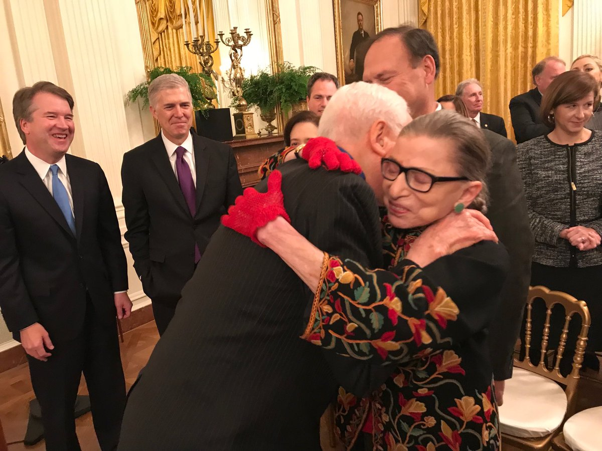 Thrilled to see Justice Ginsburg doing so well.