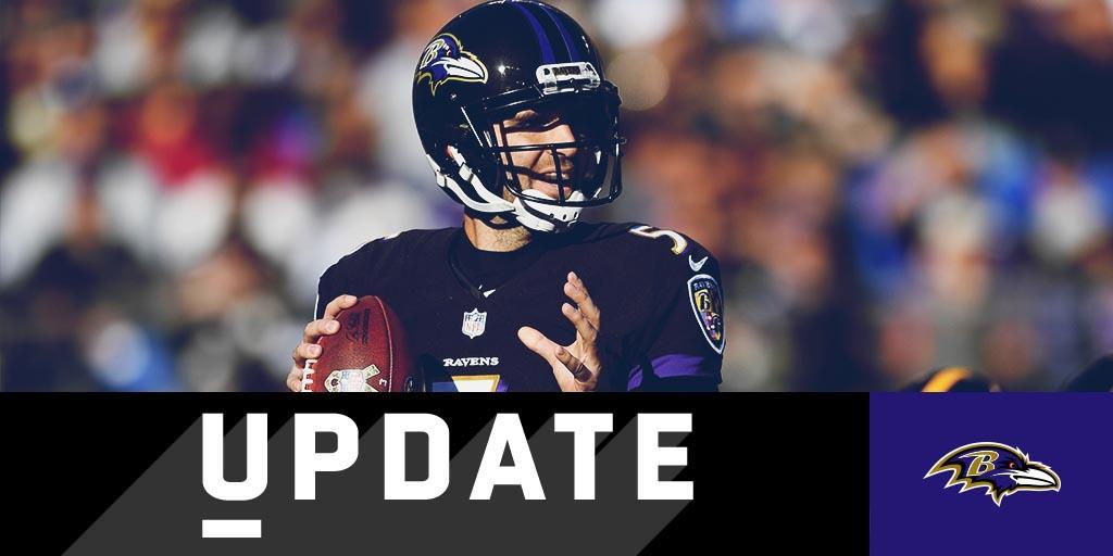 Joe Flacco sits out practice; Ravens don't name Week 11 starter: https://t.co/zQkhmQfG5d https://t.co/GC56b1FM5m