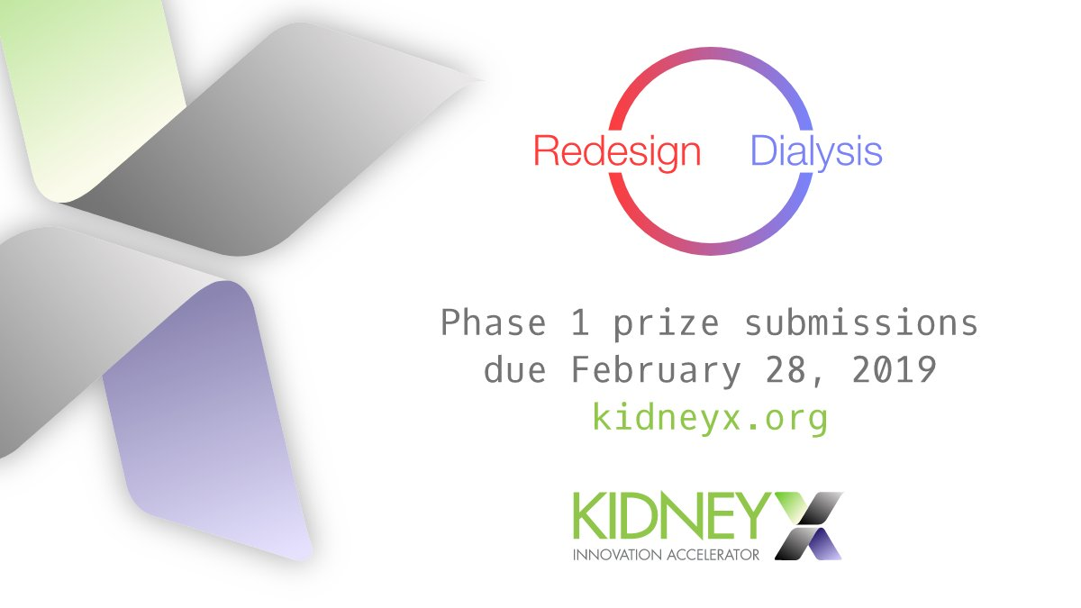 The #KidneyX #RedesignDialysis prize challenge is an opportunity to change kidney care forever. Join leaders from @NIH, @CDCgov, @US_FDA and @ASNKidney to learn more about the first prize & ask questions:  https://t.co/Mplk10RGGR@Kidney_X