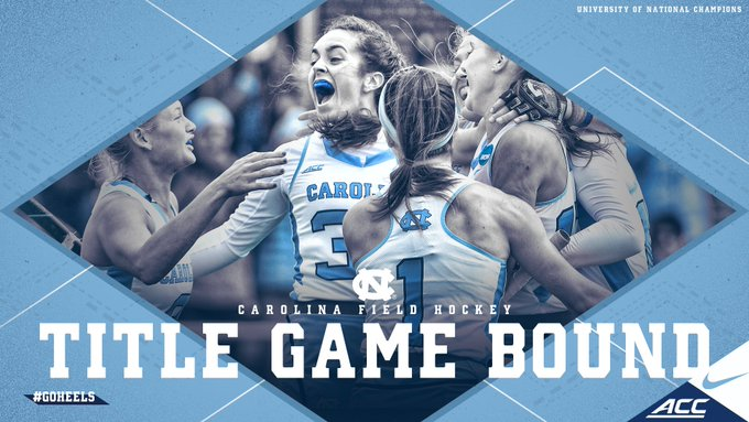 Final score: UNC 4, Wake Forest 1 Carolina advances to the NCAA Championship game on Sunday at 1 vs either Maryland or Princeton #GoHeels #NCAAFH Photo